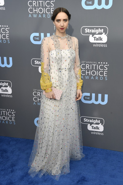 Zoe Kazan Sequin Dress