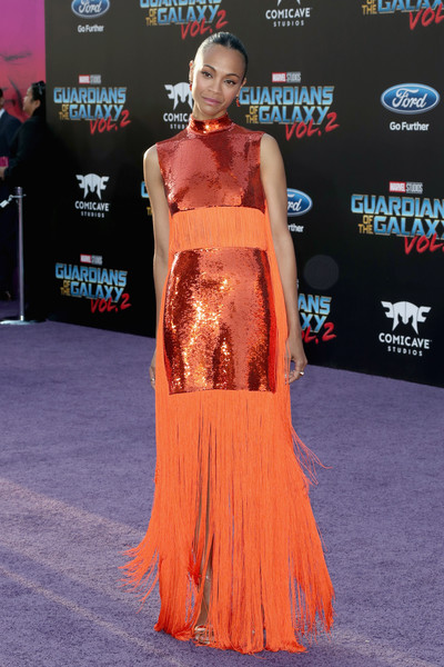 Zoe Saldana Sequin Dress