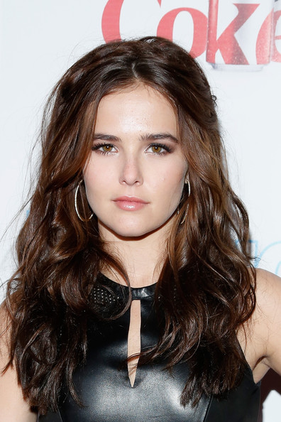 Zoey Deutch Diamond Hoops [hair,face,hairstyle,eyebrow,brown hair,lip,long hair,beauty,chin,hair coloring,arrivals,zoey deutch,new york city,finale nightclub,intouch weekly,icons idols party,icons idols party]