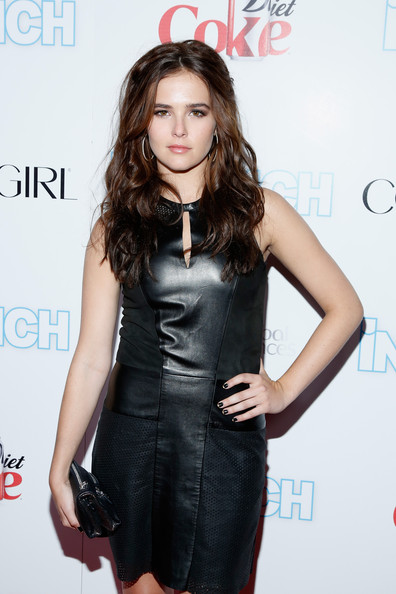 Zoey Deutch Dark Nail Polish [clothing,dress,little black dress,fashion model,cocktail dress,hairstyle,fashion,shoulder,long hair,premiere,arrivals,zoey deutch,new york city,finale nightclub,intouch weekly,icons idols party,icons idols party]