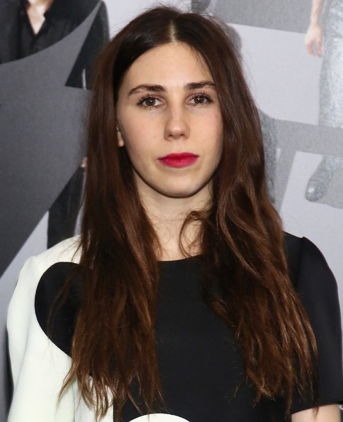 Zosia Mamet Red Lipstick [now you see me,hair,face,hairstyle,lip,eyebrow,long hair,brown hair,layered hair,beauty,hair coloring,zosia mamet,inside arrivals,new york,theater,amc lincoln square,new york premiere]