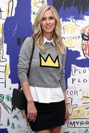 Nicky Hilton Rothschild chose the MCM Berlin box bag for her arm candy.