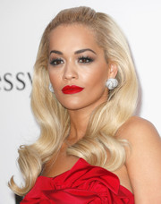 Rita Ora styled her hair in a retro-glam half-up 'do for the amfAR Cinema Against AIDS Gala.