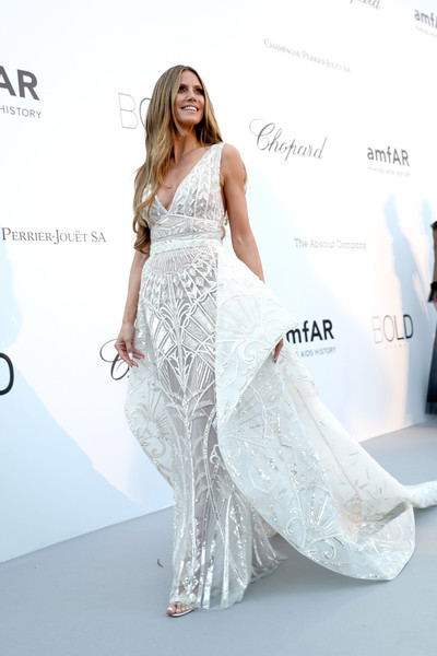 In Zuhair Murad At The2018 amfAR Gala Cannes