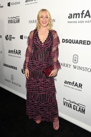 Chloe Sevigny was all about boho glamour at the amfAR Inspiration Gala in a layered, dotted gown by Gucci.