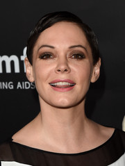 Rose McGowan sported a slick pixie at the amfAR Inspiration LA Gala.