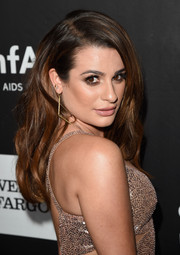 Lea Michele wore her hair with a side part and lots of volume during the amfAR Inspiration LA Gala.