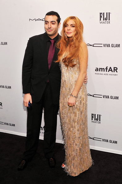More Pics of Lindsay Lohan Beaded Dress (1 of 10) - Lindsay Lohan Lookbook - StyleBistro
