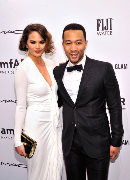 More Pics of Chrissy Teigen Evening Dress (5 of 8) - Chrissy Teigen Lookbook - StyleBistro