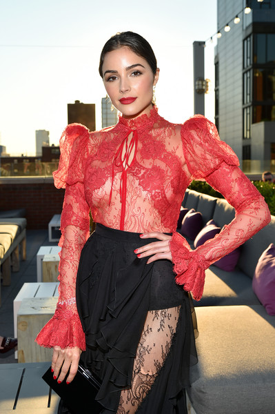 More Pics of Olivia Culpo Ponytail (1 of 9) - Long Hairstyles Lookbook - StyleBistro [clothing,red,fashion,pink,dress,haute couture,fashion design,fashion model,textile,costume,mr.,olivia culpo,generationcure solstice,purple,new york city,amfar]
