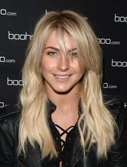 Julianne Hough wore her hair in punky waves when she attended the boohoo.com event.