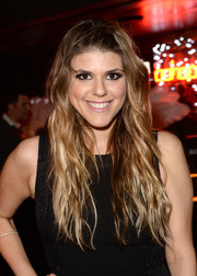 Molly Tarlov sported a rocker-chic wavy 'do at the boohoo.com event.