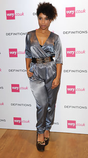 Lianne La Havas shimmered in a silver jumpsuit during the Very.co.uk launch party.