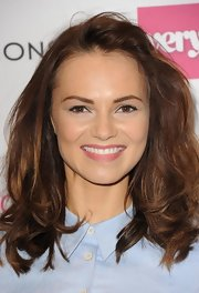 Kara Tointon wore her hair in a messy-chic half-up half-down style during the Very.co.uk launch party.