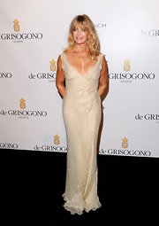 Goldie was elegant at the Cannes Film Festival in a beaded chiffon evening gown.
