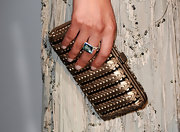 Bianca Balti held tight to her embellished hard case clutch at the de Grisogono Dinner at Cannes.