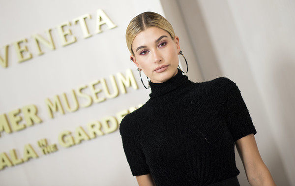 More Pics of Hailey Bieber Platform Pumps (1 of 6) - Heels Lookbook - StyleBistro [hair,shoulder,beauty,neck,fashion,hairstyle,blond,lip,joint,little black dress,hailey baldwin,supermodel,fashion,hair,beauty,shoulder,neck,bottega veneta,event,hammer museum gala in the garden,fashion,model,socialite,supermodel,beauty.m]