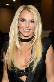 Britney Spears wore her hair long and layered when she attended the iHeartRadio Music Festival.