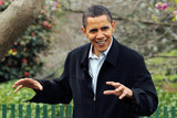 Barack Obama in The White House Hosts Its Annual Easter Egg Roll