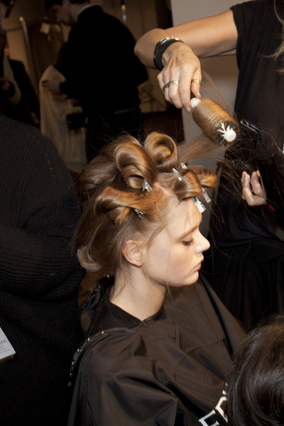 Alberta Ferretti Fall 2011 - Backstage