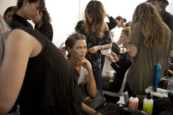Anne Valérie Hash at Paris Spring 2011 (Backstage)