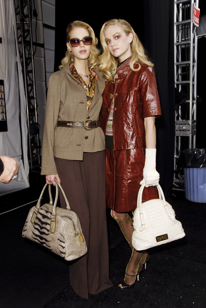 Badgley Mischka at New York Fall 2008 (Backstage)