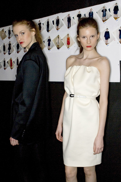 Carla Carini at Milan Fall 2009 (Backstage)