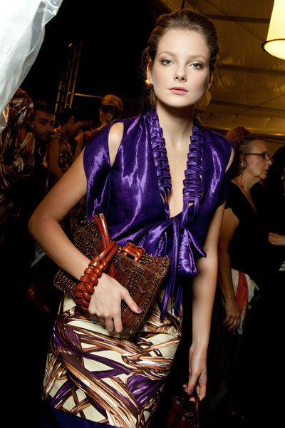 Carolina Herrera at New York Spring 2010 (Backstage)