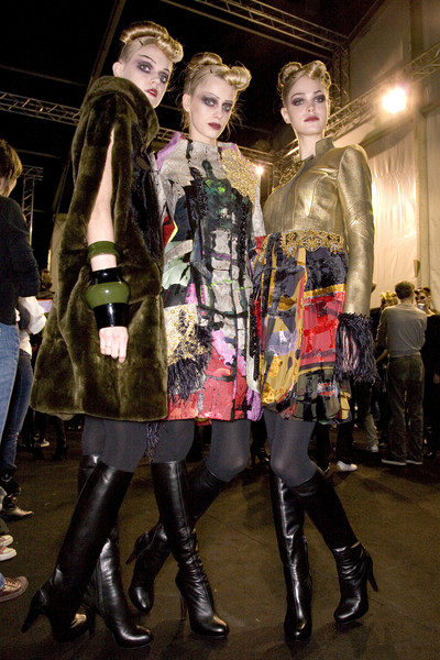 Christian Lacroix at Paris Fall 2008 (Backstage)