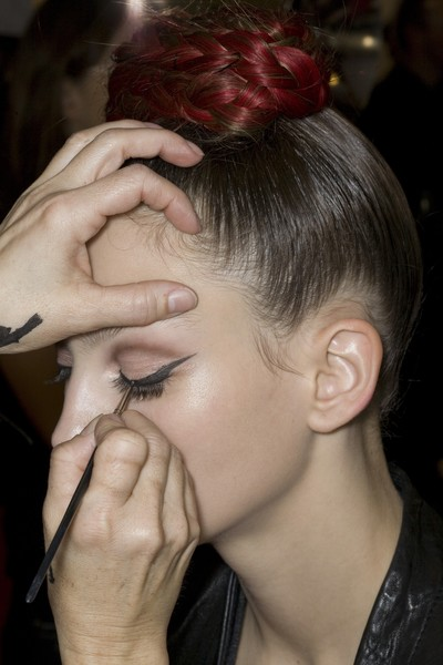 Christian Lacroix at Couture Spring 2009 (Backstage)