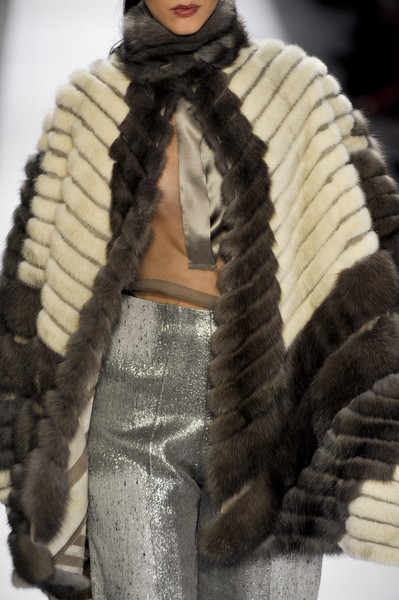 Dennis Basso at New York Fall 2013 (Details)