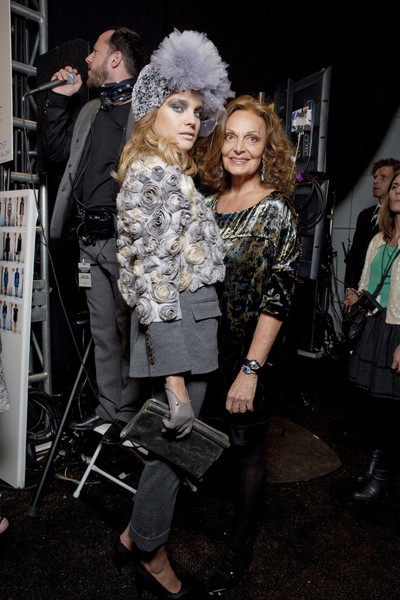 Diane von Furstenberg at New York Fall 2010 (Backstage)