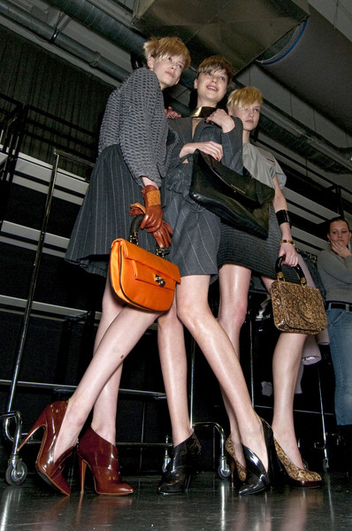 Emporio Armani Fall 2010 - Backstage