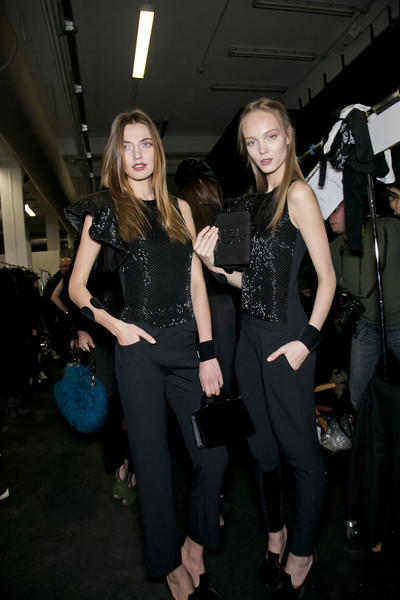 Emporio Armani Fall 2011 - Backstage