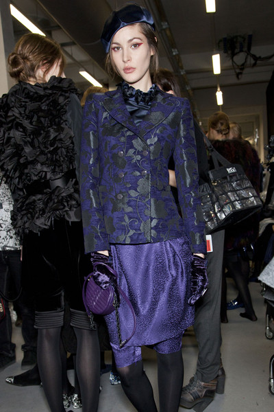 Emporio Armani Fall 2012 - Backstage