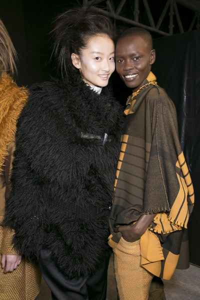Issey Miyake at Paris Fall 2013 (Backstage)