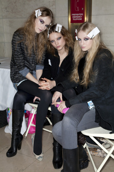 Jill Stuart at New York Fall 2009 (Backstage)