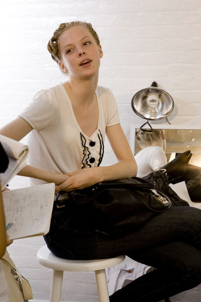 Karen Walker at New York Spring 2009 (Backstage)