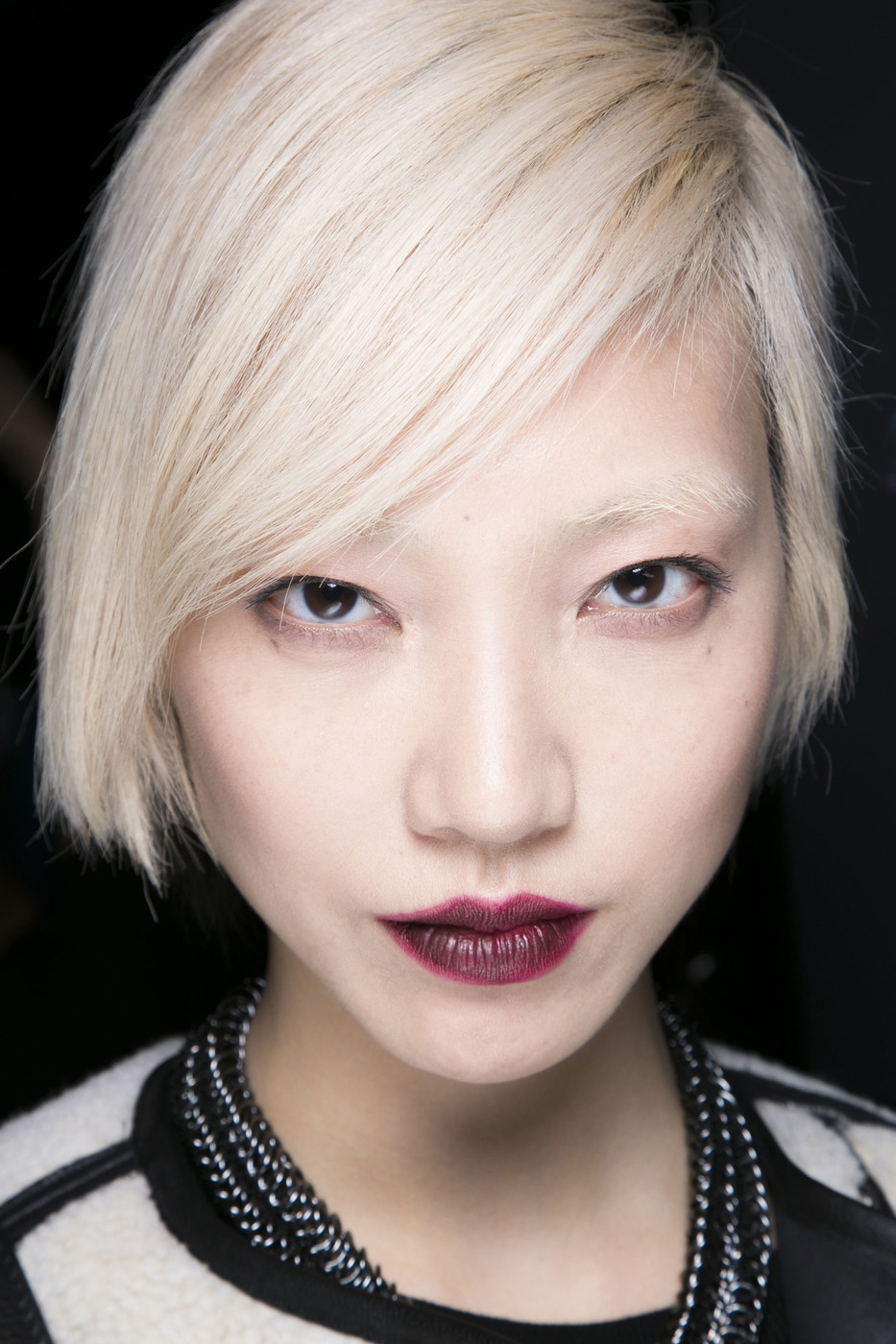Spotted Backstage at NYFW Fall 2014: Wine-Colored Lips And Tips