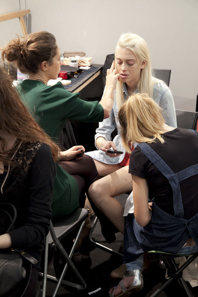 Sportmax at Milan Spring 2012 (Backstage)