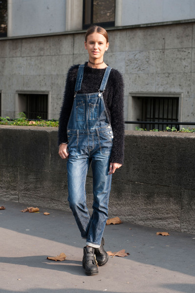 Overall Stylish Best Street Style From Paris Fashion Week Spring 2015 Stylebistro