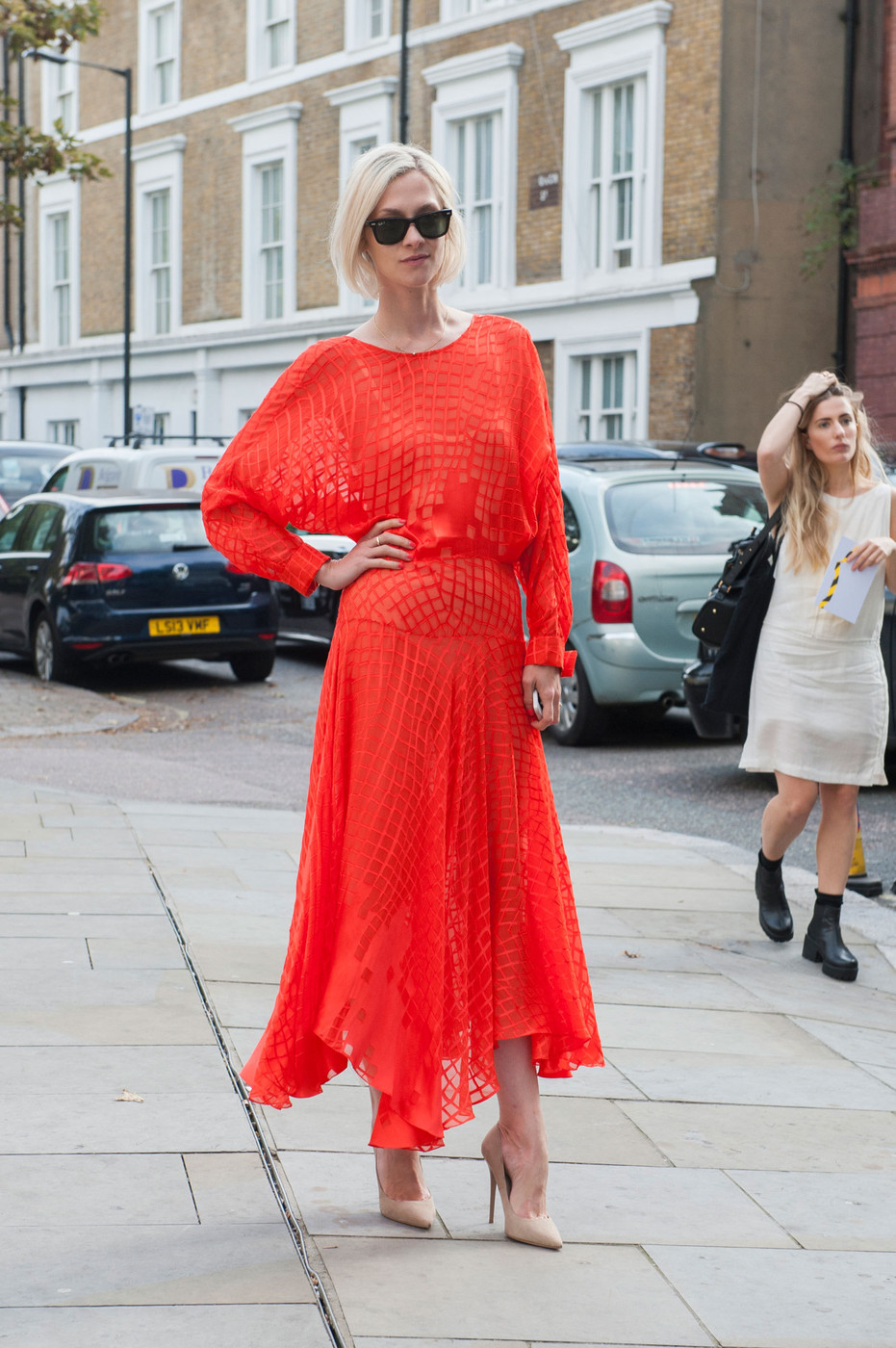 Red Haute Best Street Style At London Fashion Week Spring 2015 Stylebistro