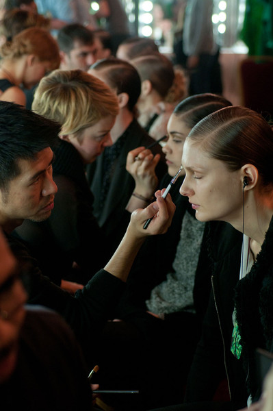 Talbot Runhof at Paris Fall 2012 (Backstage)