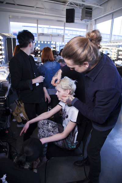Tess Giberson Fall 2013 - Backstage