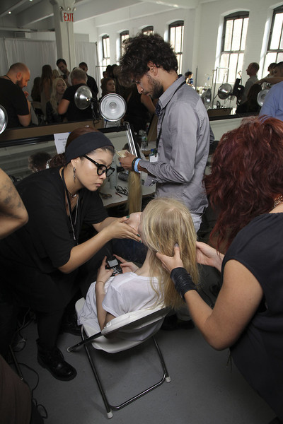 Theyskens Theory Spring 2012 - Backstage