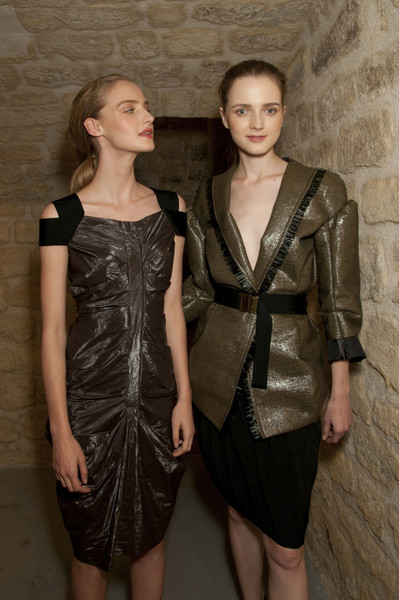 Véronique Leroy at Paris Spring 2010 (Backstage)