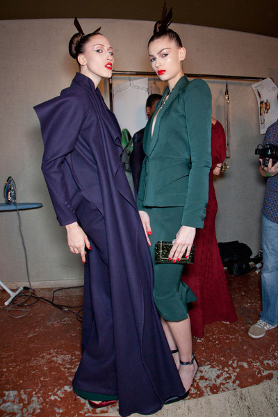 Zac Posen Fall 2012 - Backstage