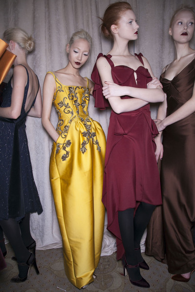 Zac Posen Fall 2013 - Backstage