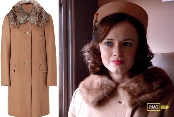 Alexis Bledel's Fur-Collar Coat on 'Mad Men'