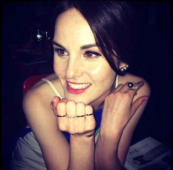 Michelle Dockery Having a Ball